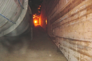 MixOnSite filled around a 2,000' long, 6' diameter pipe in a 21' wide tunnel